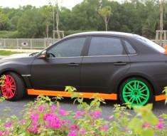 """Ngắm Subaru độ kiểu """"xanh đỏ tím vàng"""""""